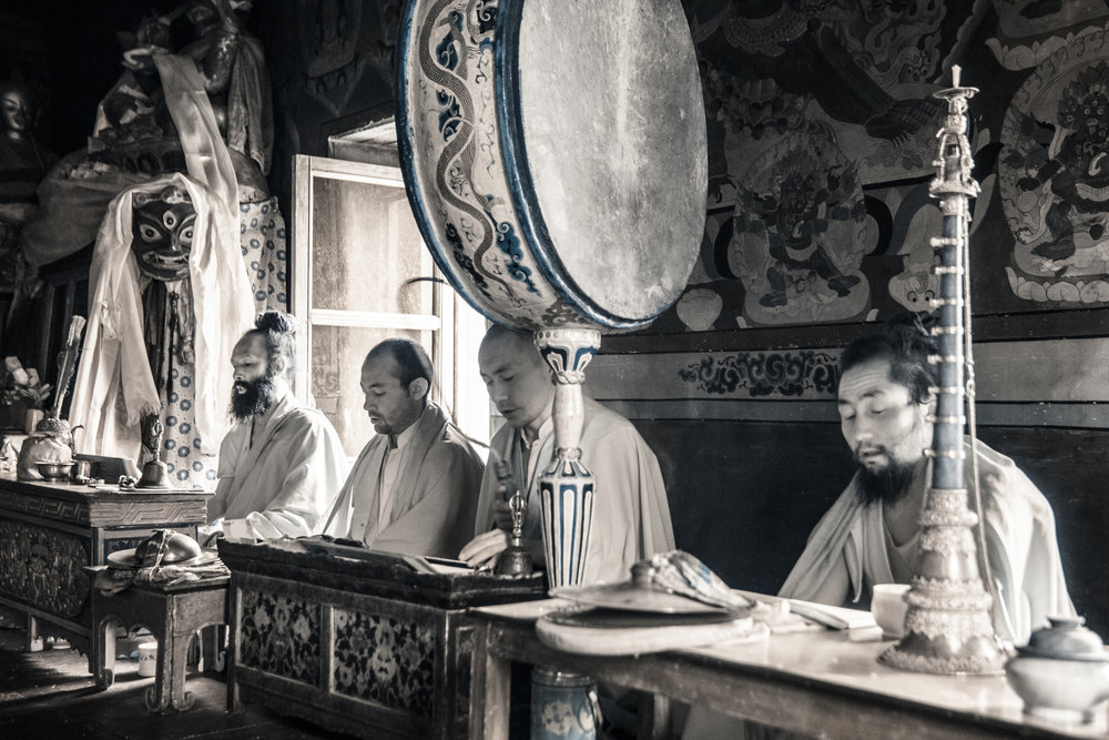 Monks in Lamayuru Monastery.
