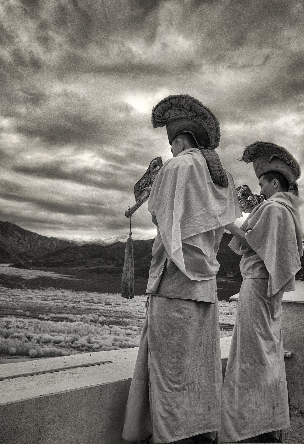 Monks at Thiksey Monastery.