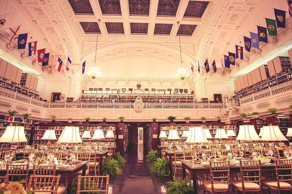 DAR Library wedding reception