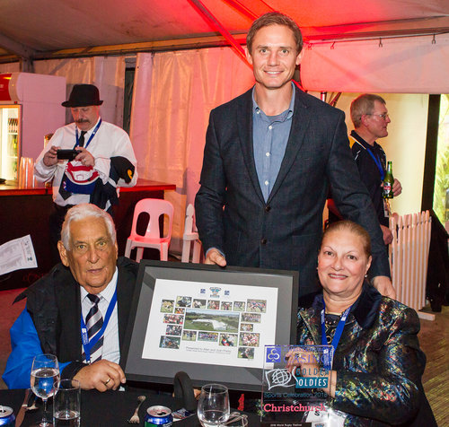 Alan and wife Joan with Golden Oldies Ambassador, Stephen Larkham