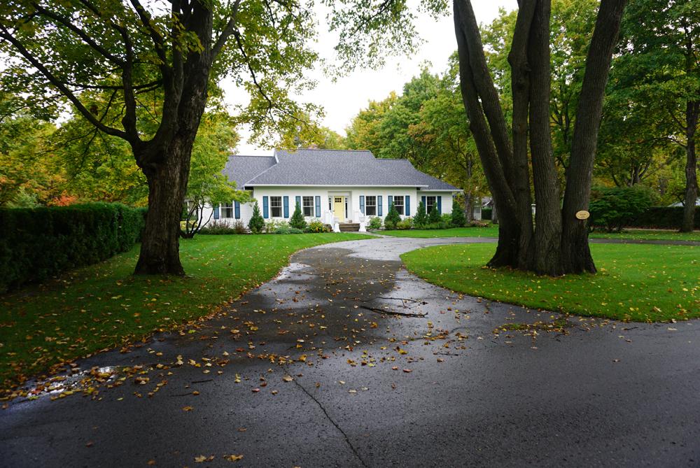 landscape design traditional home charlevoix landscaping services