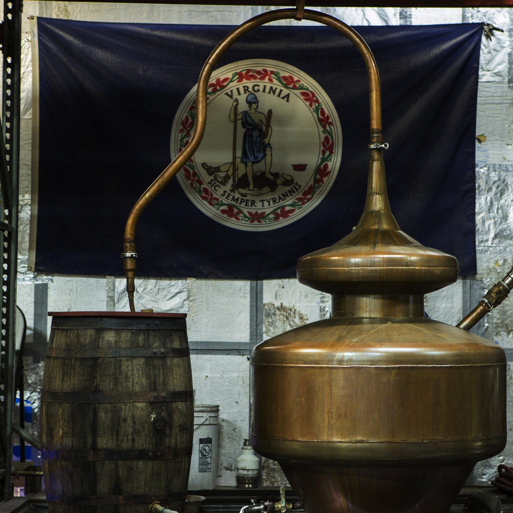 The spirits are double pot-distilled at a low 150 to 160 proof to enhance the fruitiness.