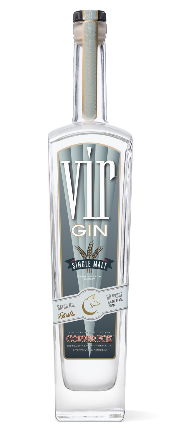 VIR GIN - Uniquely distilled in pot stills from 100% of our hand malted barley, resulting in a deep and rich flavor profile that allows the malt to shine. Utilizing a signature botanical blend including Mediterranean juniper and seasonal offerings from the distillery allows more citrus and floral notes to prevail in this spirit.TASTING NOTESColor: Clear and brightNose: Sweet malt at the start, light and delicate swirls of juniper, anise and citrusPalate: Mouth filling and soft, fruity with sumptuous mint and lime shavings, balance of juniper and aniseFinish: Lingering wisps of mint, ginger and black pepper, elegantly complexNon-chill filtered. 45% ABV/90 Proof‹ PreviousBack to GalleryNext ›