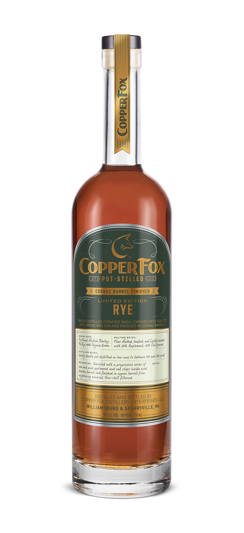 copper fox cognac Barrel Finish limited edition Rye - Detailed tasting notes to come.‹ Previous Back to Gallery Next ›
