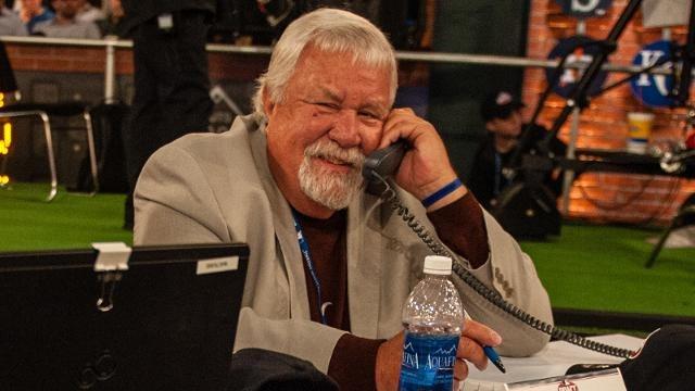 Gary Hughs working the phones