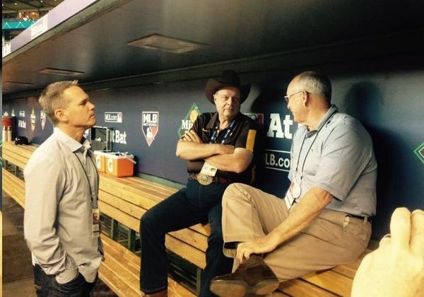 Three HOFers. TR with Nolan Ryan and Craig Biggio
