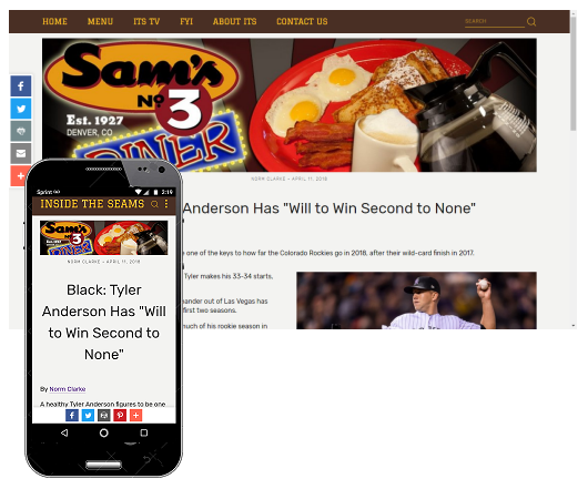 Click image for an example of top and bottom banner ad palcement.