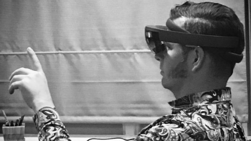 will with AR glasses bw.jpg
