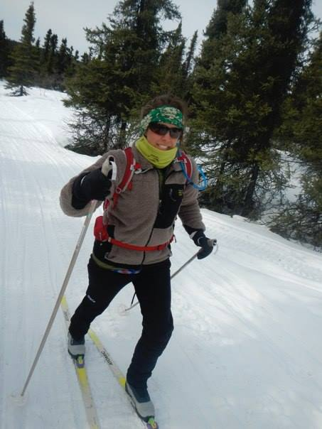 Me on my first set of skis in the White Mountains.