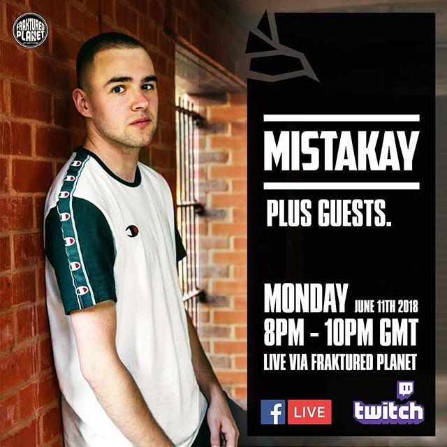 I'll be live on @fraktured_planet for two hours on Monday @ 8pm got bare new music to get through 🌍🖖😁 if you've just made a banger send it through and if every tings cool n coshure I'll spin it k@mistakay.co.uk 💯 one love Doncasterfari ❤️🎯