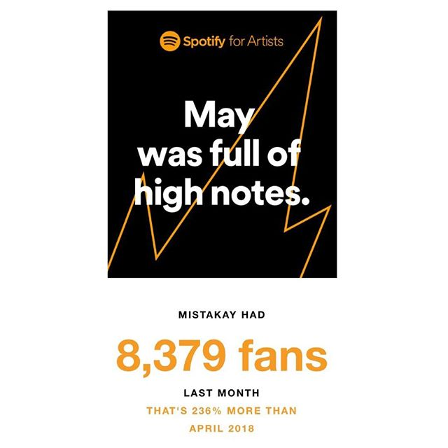 Apparently my fans on Spotify have gone up by 236% since last month 🤯 big up each and every single one of you lovely people. Amazing. 😁 #spotify #progression  #music #grime #garage #trap #producer