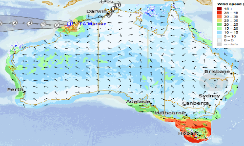 BUREAU OF METEOROLOGY METEYE(TM)   Track live weather updates with the Bureau's MetEye(TM).