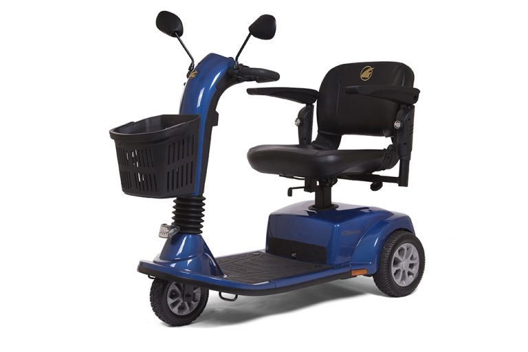 Golden Companion 3- Wheel Full Size    Offers more legroom and foot room with a wider front deck and a stylish new design    Weight capacity 400 lbs.    Maximum speed of 4.5 mph and a range of 16.5 miles    40AH battery upgrade pack available