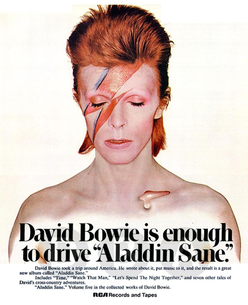 Pin ups david bowie - Aladdin singe ...
