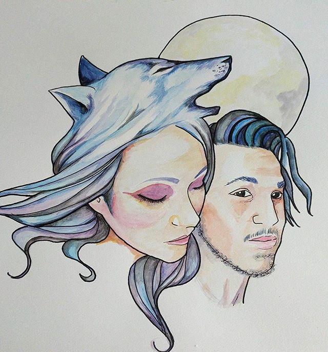VVOLVES Concept art by the unbelievable Bailey McKenna @baileybmck . . #vvolves #vvolvesmusic #art #conceptualart #albumcover #albumart #music #yvr #montreal #vancouver #vancity #howl #moon #lovearmy