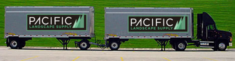 Walking Floor Truck with Doubles Trailers