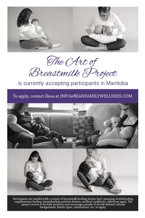 The Art of Breast Milk Project - Breastfeeding in Winnipeg Manitoba