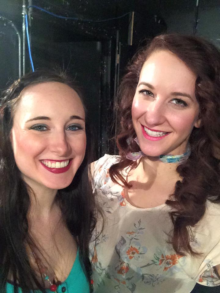 Backstage at  Scapino!  Callie Rose Hanau, Claire Buchignani