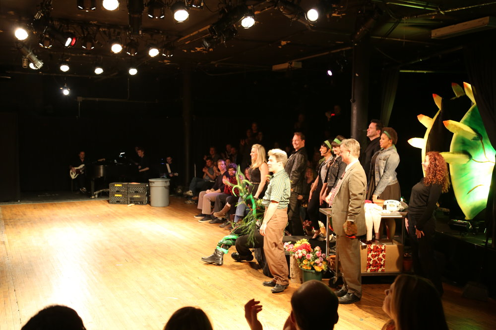 The cast of  Little Shop of Horrors