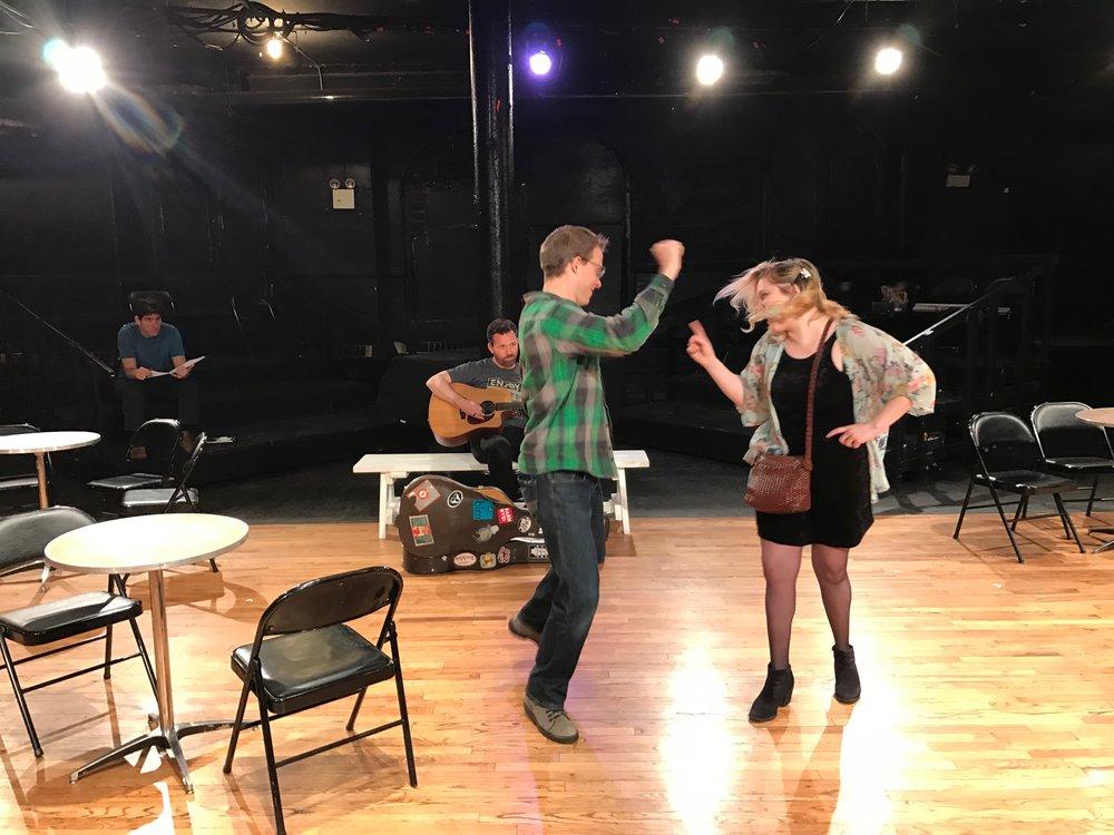The Star and the Fire  rehearsal. Carlos Martin, Mat Labotka, Lezane Havard Trapani