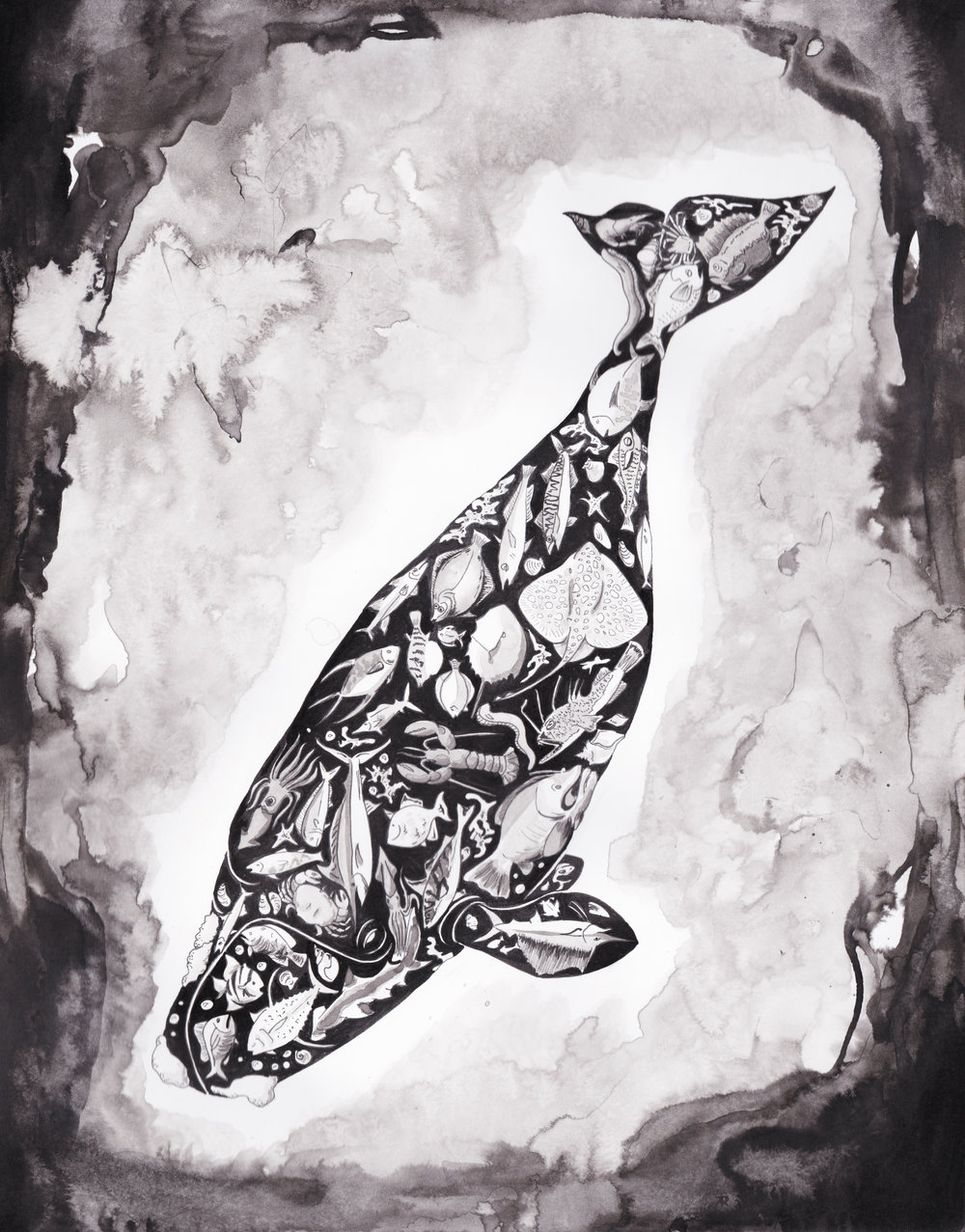 """Ecosystem"" Ink, 2018"
