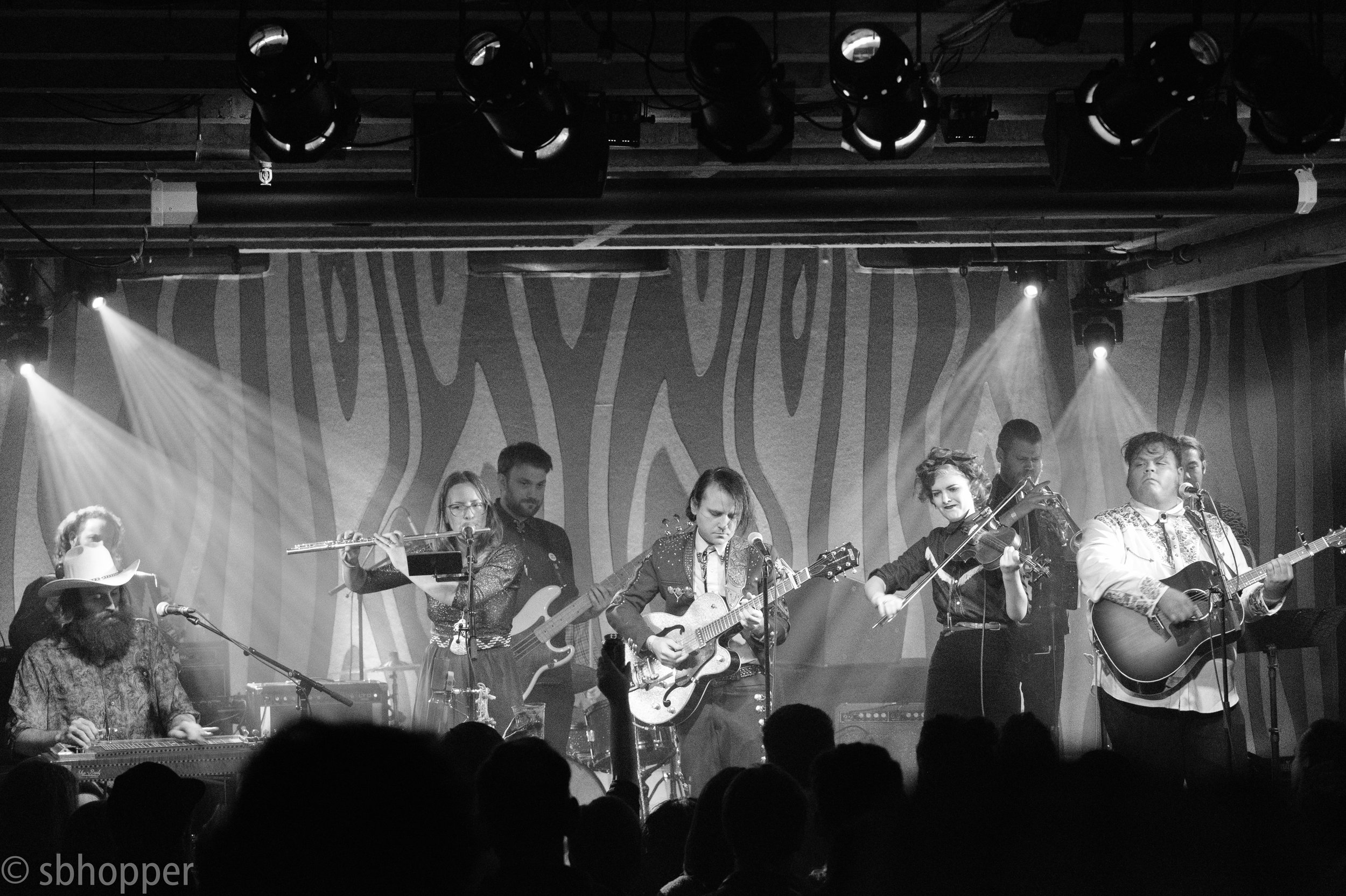 Roselit Bone Doug Fir band shot black and white (1 of 1)