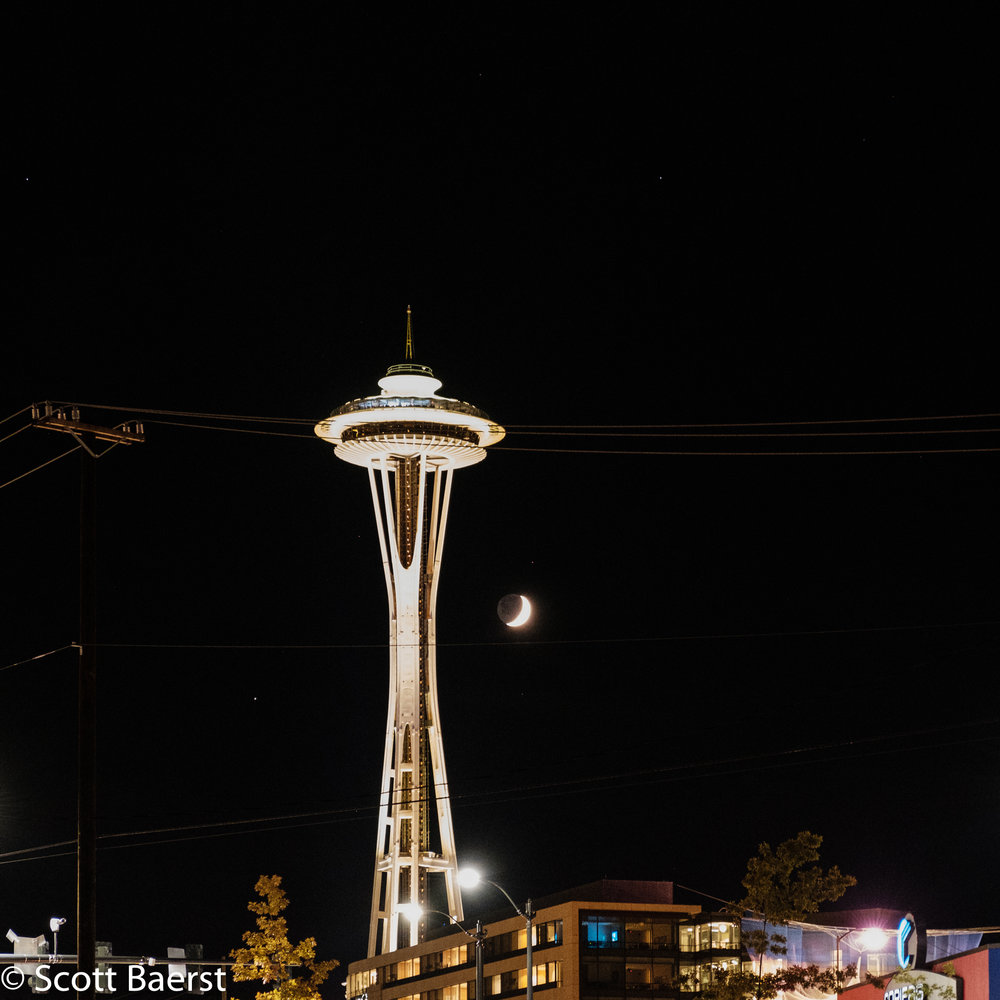 Space Needle, Seattle, 2016. Fujifilm XT2: ISO 12800 | f/4.0 | 1/8sec