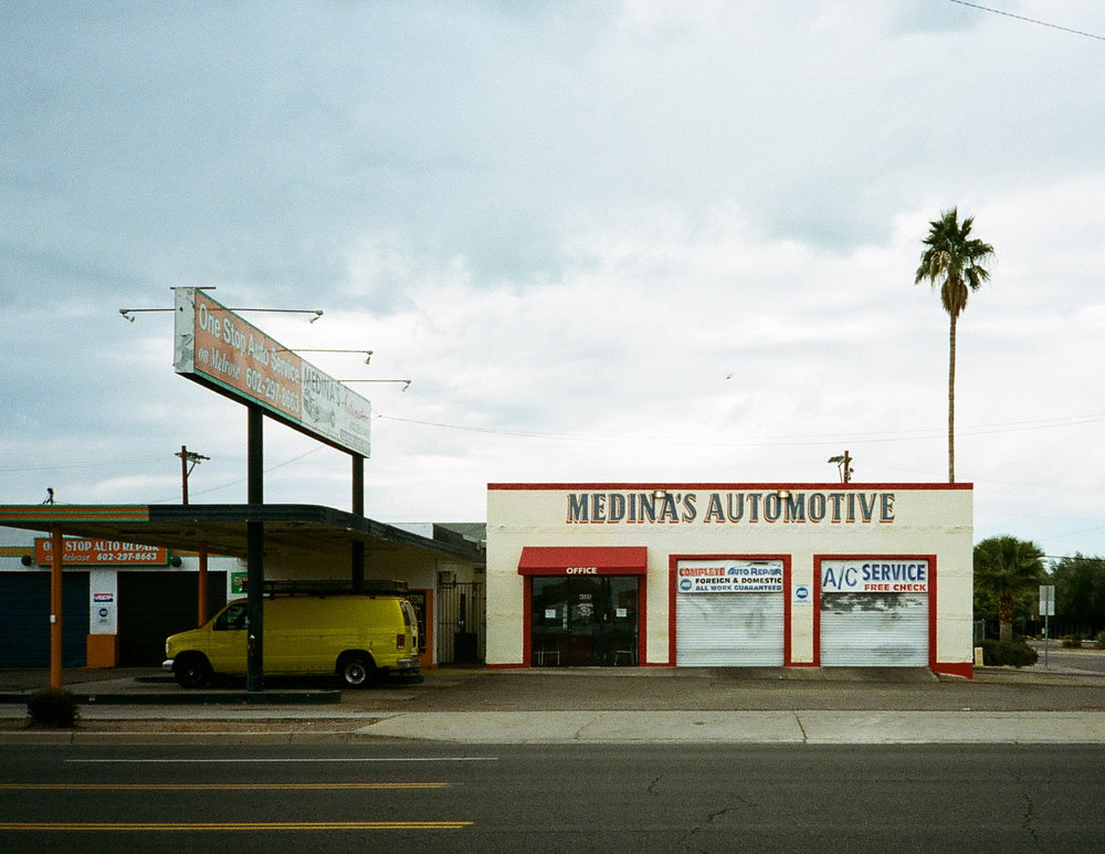 Medina's Automotive, shot on an Olympus XA. I think it might have been Ektar 100, but I'm not sure.