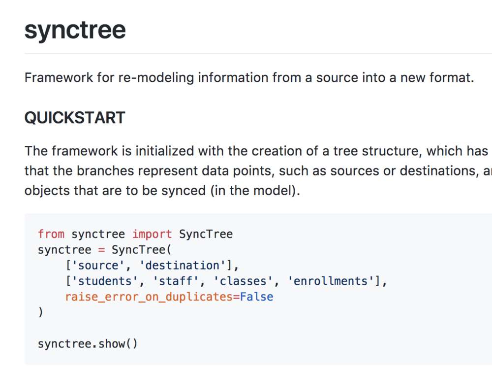 Synctree - A python framework that allows developers to automate syncing operations between systems.