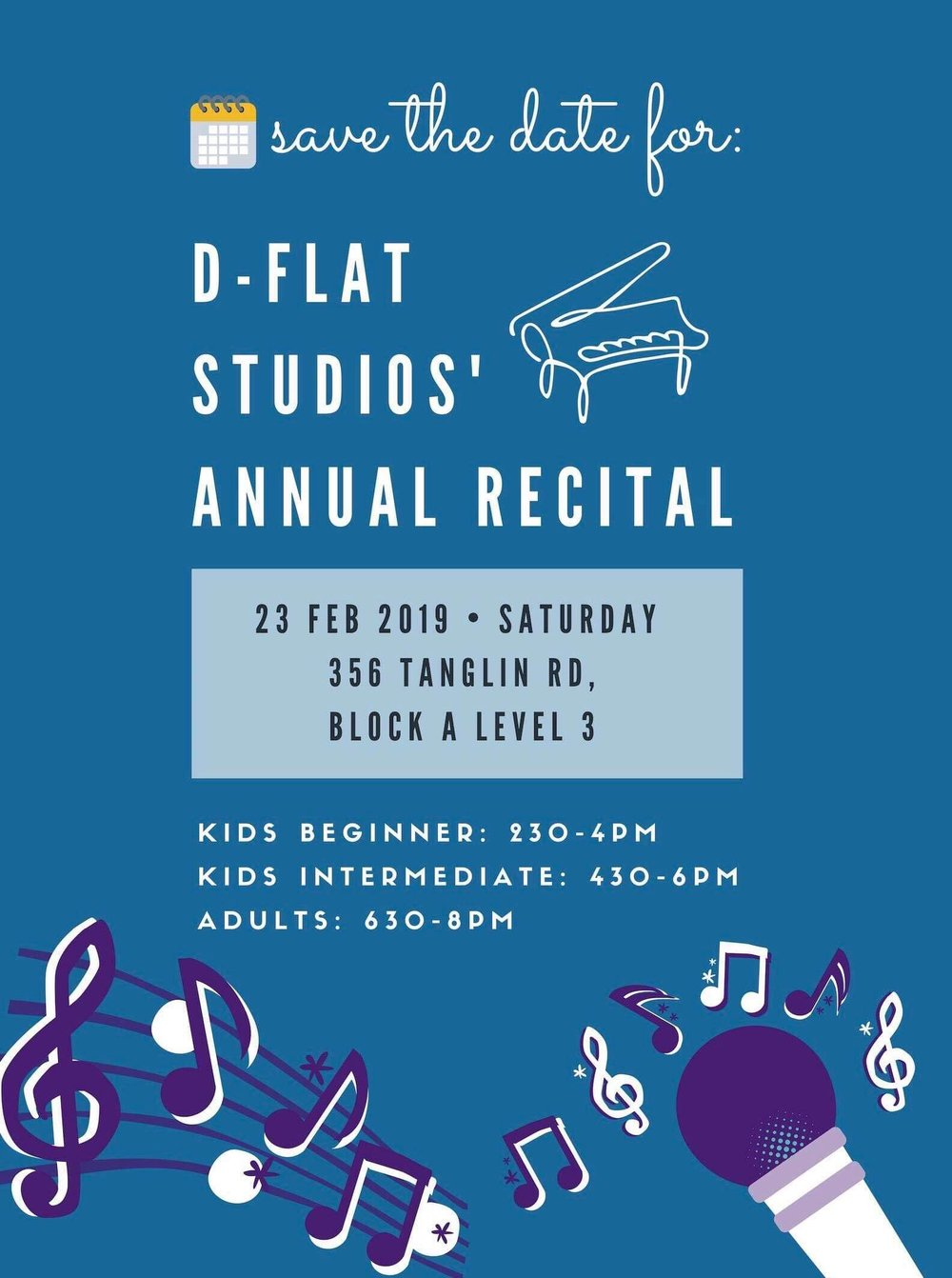 Our Annual Recital - 23rd Feb 2019