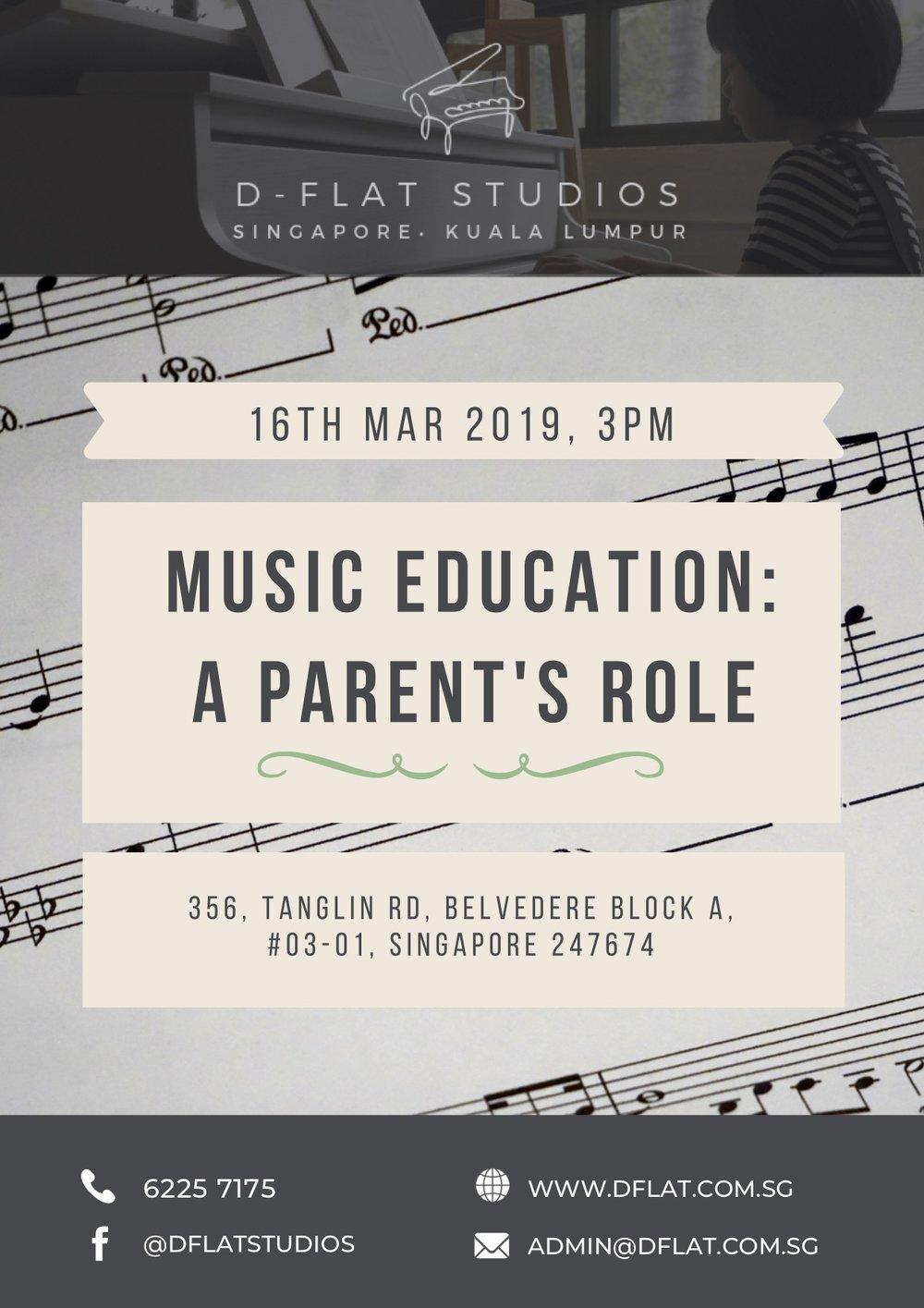 Music Education: A Parent's Role - 16th Mar 2019