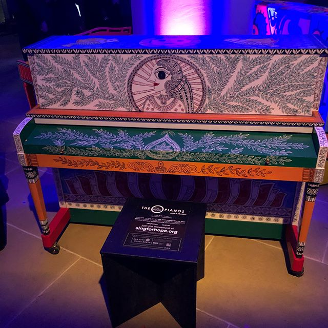 "The pianos. ""Sing for hope""IAC building."