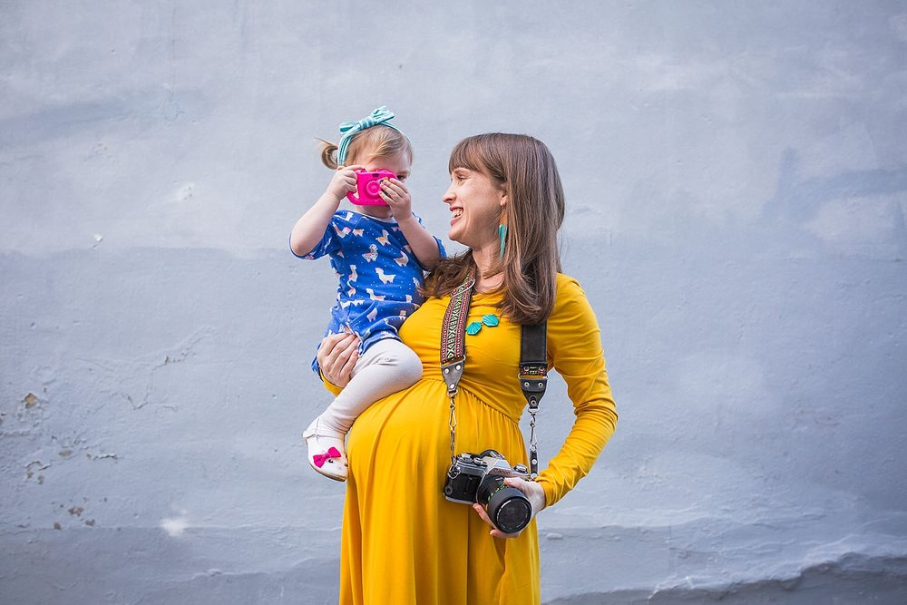 A recent photo of my daughter and I in the alleyway across from our home in Lancaster City at 39 weeks pregnant with our son.