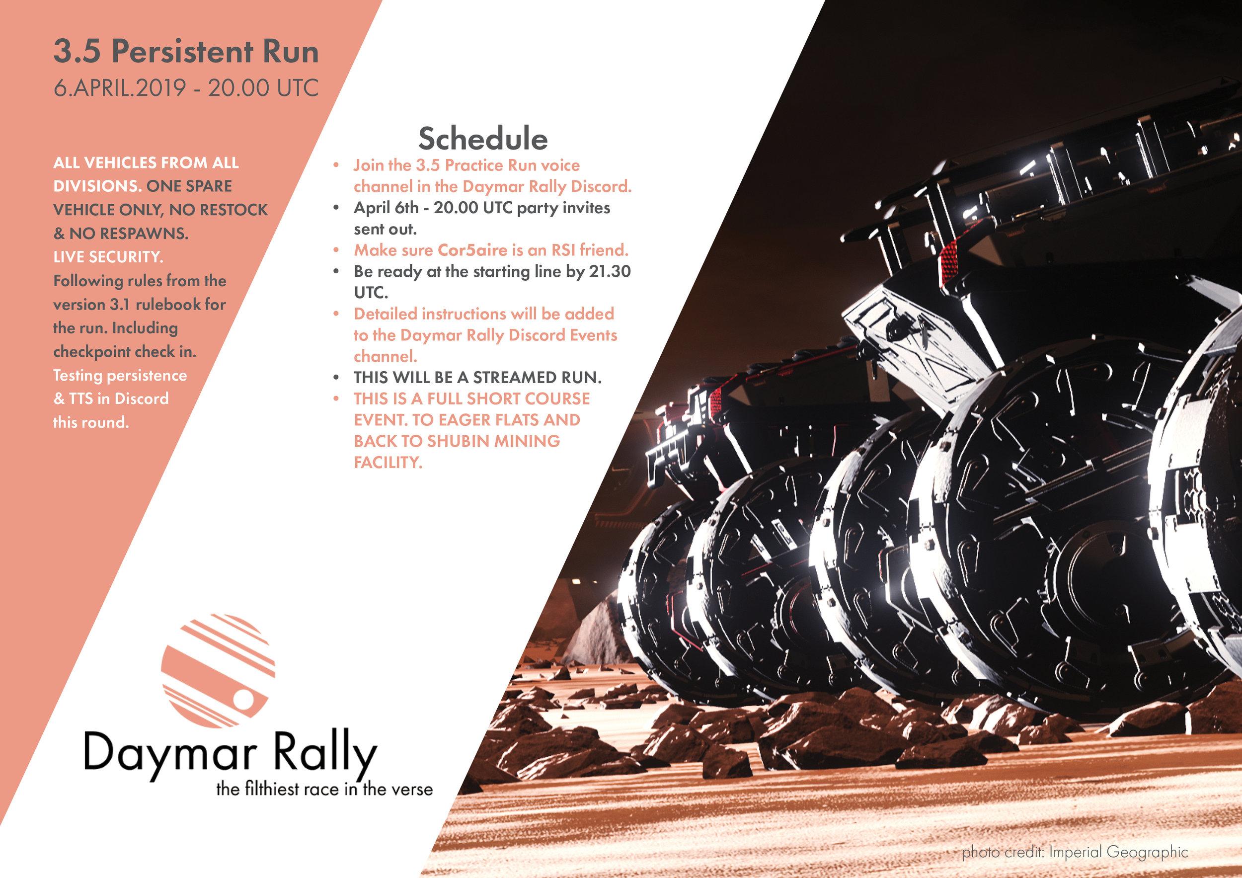 Calendar — Daymar Rally