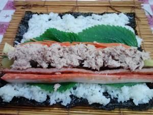 unrolled kimbap