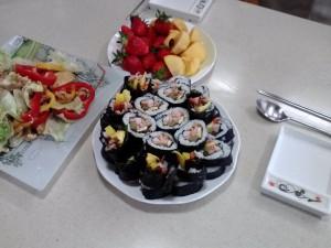 Kimbap lunch