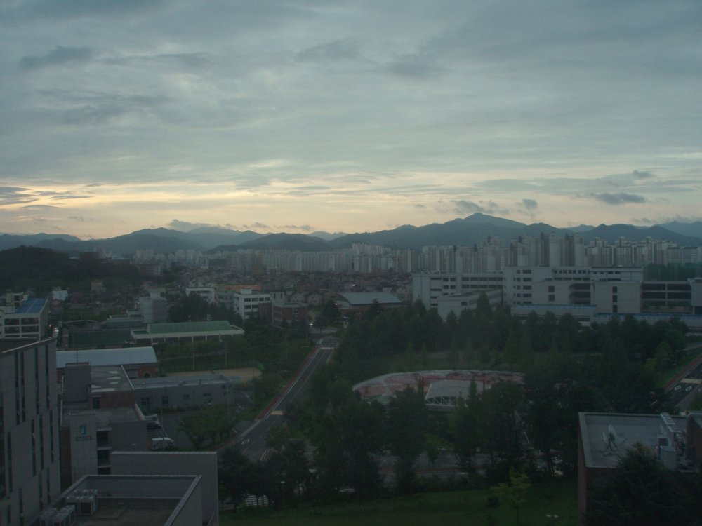 Sunrise over Jeonju