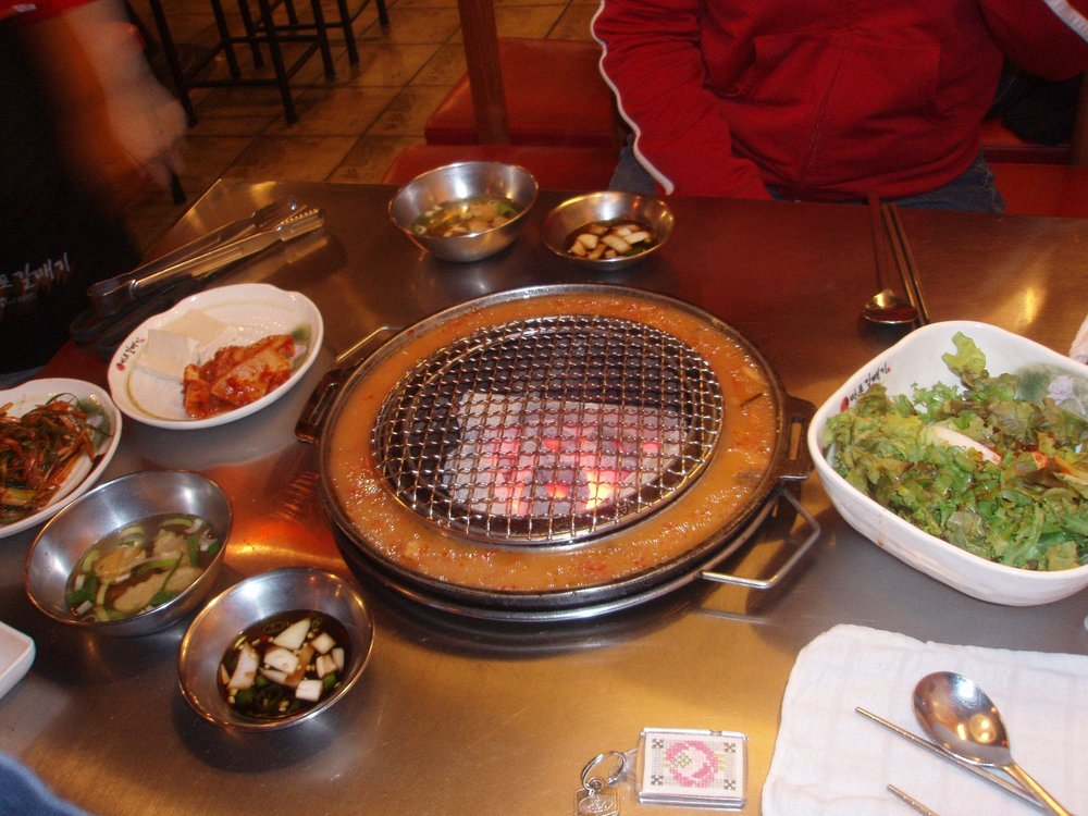 Coals, and side dishes