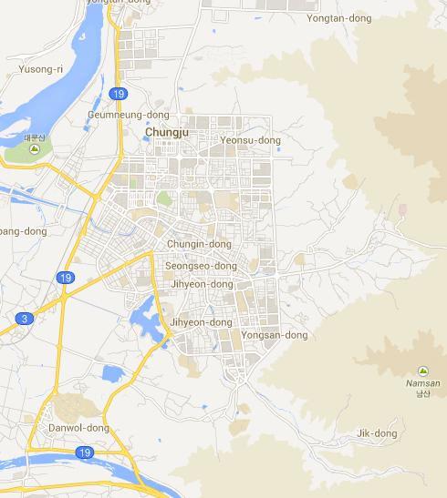 Chungju, South Korea Map