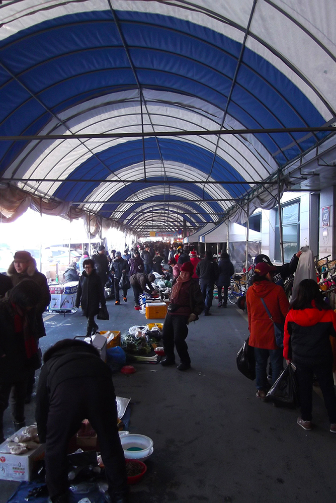 Chungju Traditional Market, under the tent