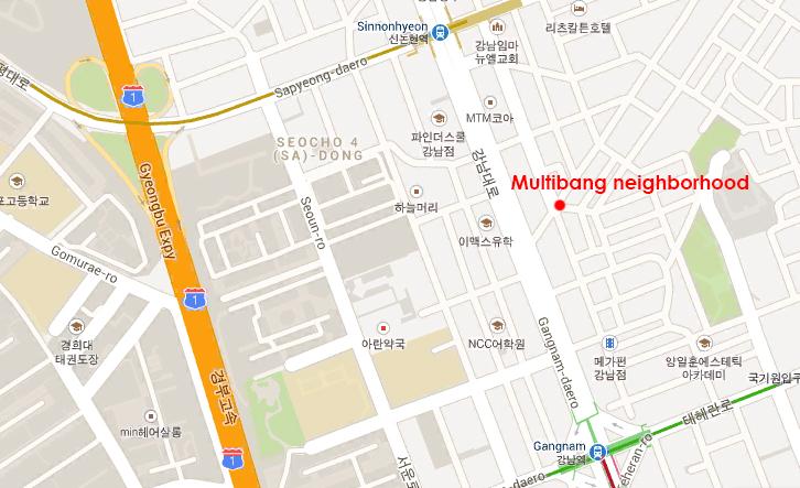 Seoul multibang map
