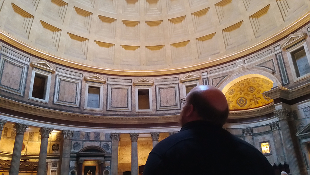 Sam at the Pantheon