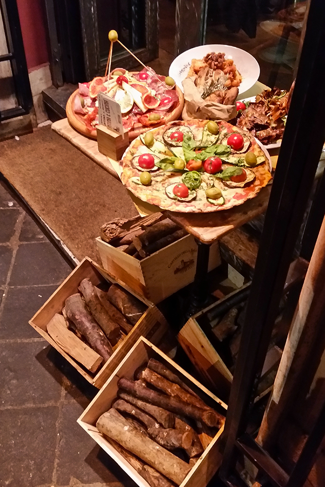 Pizzeria display in Rome's Piazza Navona neighborhood. I'd love to show you some of the pizzas we ate, but they didn't last long enough for a photo shoot. I highly recommend you go check them out yourself.