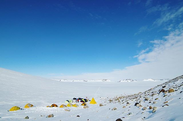 Home after 26 great days on the Ice. Met some amazing folks in the biggest, emptiest landscape I've ever been in. This was camp on Deception Glacier where @andyknightmitchell and I swooped in for seven nights to join the rest of the team who had been there for three weeks already.