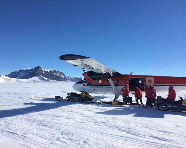 Our ride in and out of field camp was this Twin Otter equipped with skis to land on the snow. Stunningly beautiful flights in and out!