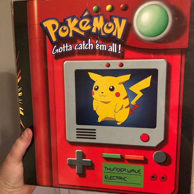 Oooh this classic Pokémon Card binder from 1999 would make a great gift for the Pokémon in your life. It's $18 in the store. Comment or DM for shipping info. . .  #that90shop #stl #stlouis #florissant #flomo #noco #90s #nostalgia #90skid #millenial #childhood #gift #giftideas #pokemon #pikachu #pokemoncards #pokemongo #pokemonbinder #pokefan #gameboy #vintagepokemon #1999 #gamer #videogame #cardgame