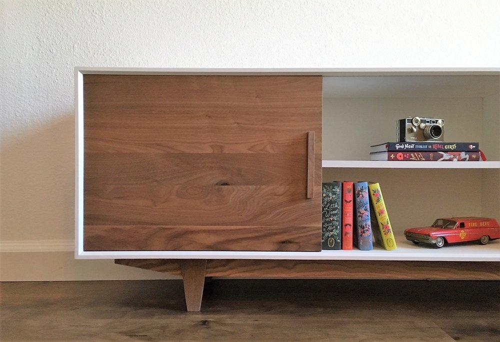 Merveilleux Alamo Design Co Tampa FL Custom Furniture Mid Century Console Close Up