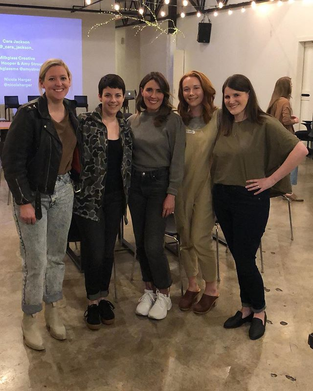Huge thanks to our Running a Creative Business panel last week @amystroup @milkglassme @_cara_jackson_ @nicolaharger ✨ so good to hear from women who are out there making it happen and willing to share along the way. Did you join us? Would love to hear your top takeaways #ladieswinedesign_nashville