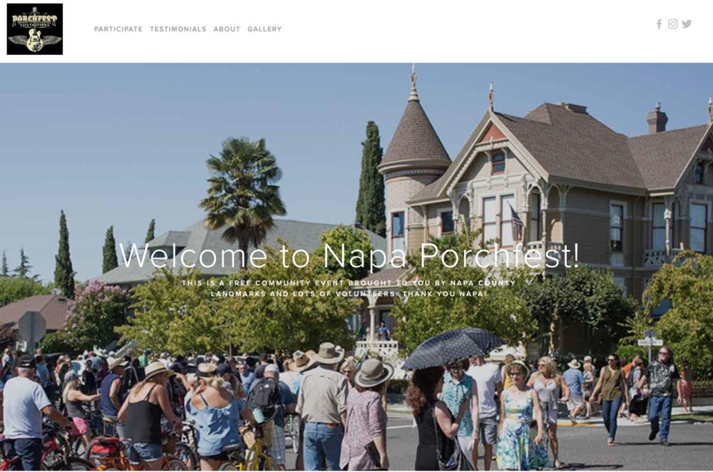 Front page - Napa Porchfest Website