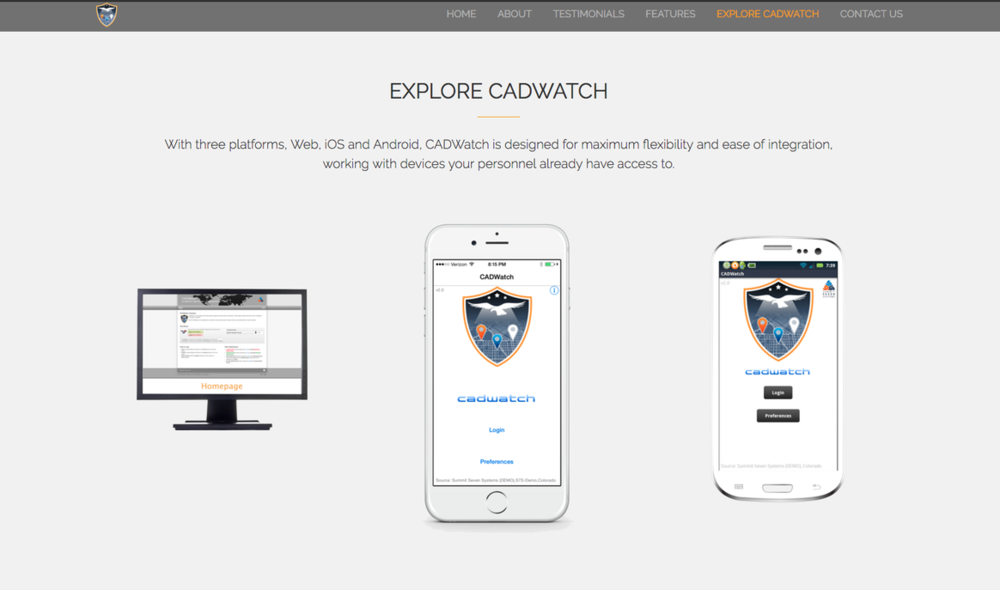 Created by Summit Seven Systems, CADWatch is an easy to use Computer Aided Dispatch (CAD) incident viewer that seamless integrates into any new or existing CAD system.